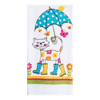 Raining Cat Kitchen Towel