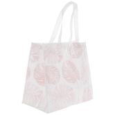 Pink Leaf Tote Bag