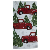 Snowy Truck & Pine Trees Kitchen Towel