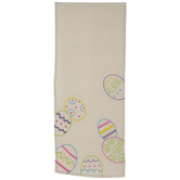 Embroidered Pastel Eggs Table Runner