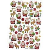 Santa & Reindeer Foil Stickers