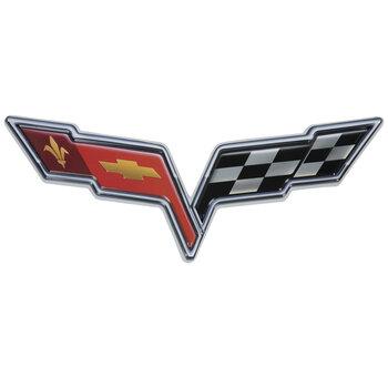 Corvette Logo Metal Sign