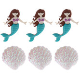 Mermaid & Shell Shank Buttons
