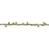 Burlap Rope With Metallic Green Leaves