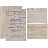 Wood Plank Wedding Invitations