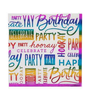 Happy Birthday Napkins - Large