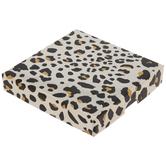 Gold Foil Leopard Print Gift Card Box