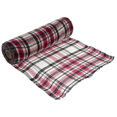 Red, Black & White Plaid Deco Mesh - 10""