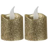 LED Glitter Votive Candles
