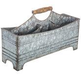 Galvanized Metal Work Caddy