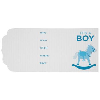 It's A Boy Rocking Horse Invitations