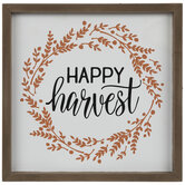 Happy Harvest Wreath Wood Wall Decor
