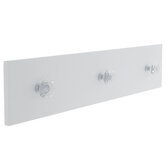 White Wood Wall Decor With Knobs