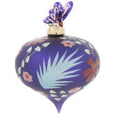 Butterfly Floral Onion Ornament