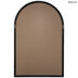 Black Cathedral Arch Wood Wall Mirror