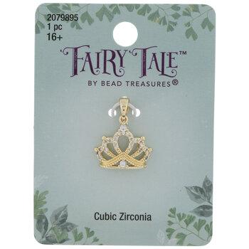 Cubic Zirconia Crown Pendant