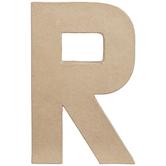 """Paper Mache Letter R - 8 1/4"""""""