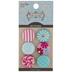 Flower Fabric Shank Buttons - 19mm