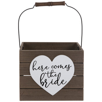 Here Comes The Bride Wood Bucket