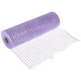 "Lavender Metallic Deco Mesh Ribbon - 10"""