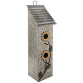 Sunflower Galvanized Metal Birdhouse