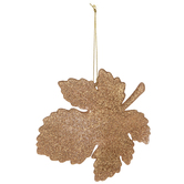 Glitter Leaves Ornaments