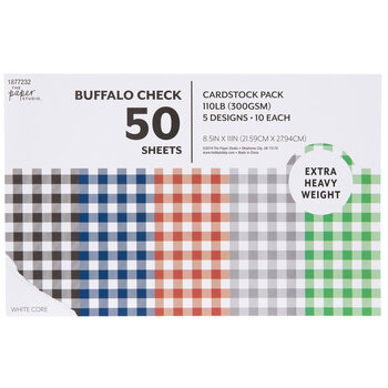 """Buffalo Check Cardstock Paper Pack - 8 1/2"""" x 11"""""""