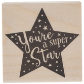 You're A Super Star Rubber Stamp