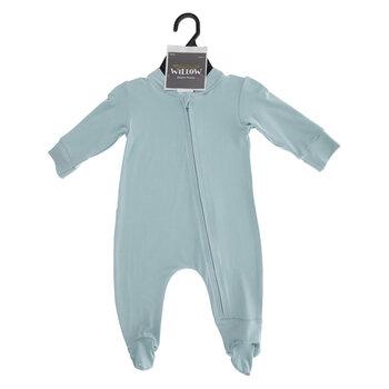 Teal Zipper Footie Creeper - 3-6 Months