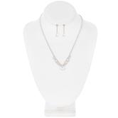 Scalloped Rhinestone Necklace & Earrings