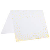 Gold Confetti Place Cards