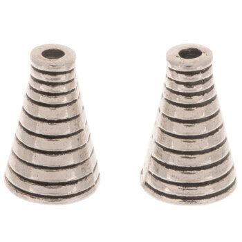 Striped Bead Cones - 10mm x 16mm