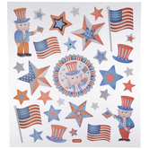 Uncle Sam & Star Stickers
