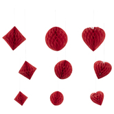 Honeycomb Shapes Hanging Decor