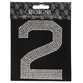 Rhinestone Iron-On Applique Number