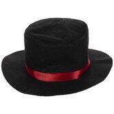 Black Felt Snowman Hat