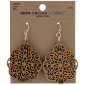 Filigree Wood Earrings