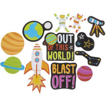 Outer Space Foam Stickers
