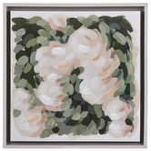 Pink & Green Brushed Floral Wood Wall Decor