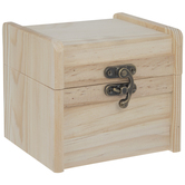 Wood Chest With Metal Clasp