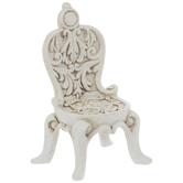 Antique White Ornate Chair
