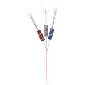 Red, Silver & Blue Glitter Firecrackers Pick