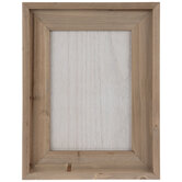 Brown & White Framed Wood Wall Decor