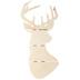 Slatted Wood Deer Head