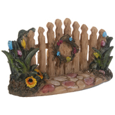 Fence With Flowers & Wreath