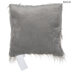 Gray Faux Fur Square Pillow