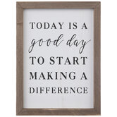 Start Making A Difference Wood Decor