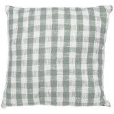 Green & White Gingham Pillow
