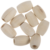 Unfinished Oval Wood Beads - 32mm x 22mm