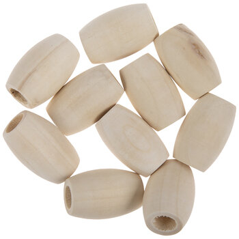 Oval Wood Beads - 32mm x 22mm